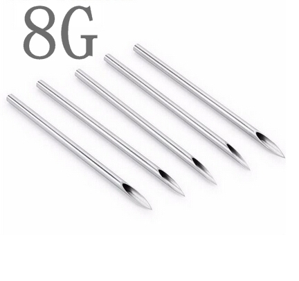 100PCS 8G Body Piercing Needles Assorted Sizes Sterile Needles Supply