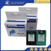 2 шт. совместимый картридж HP132 HP136 для HP Deskjet 5443 D4163 Photosmart c3183 2573 6313 Deskjet 5443 D4163 C3183 2573