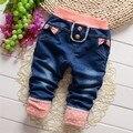 Primavera frete grátis e Outono crianças denim calças, calças de brim do bebê menino e menina calças, calças miúdo # Z1500