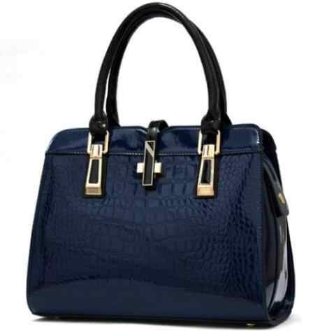 Bolsas de couro genuíno das mulheres da marca de luxo da patente bolsas femininas 2018 senhoras crossbody sacos para as bolsas de ombro f328