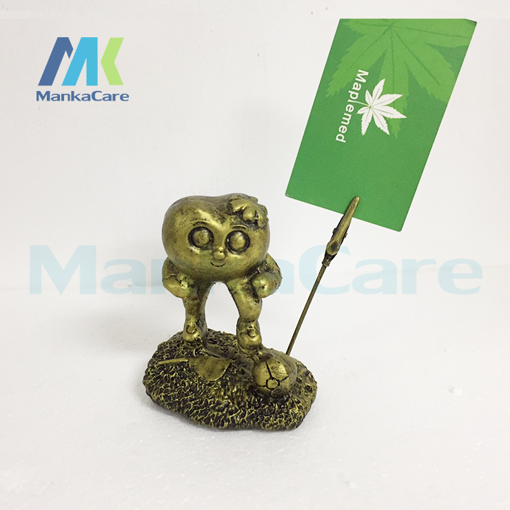 Coppery Name Card Holder 1 Teeth Doctor And 1 Teeth