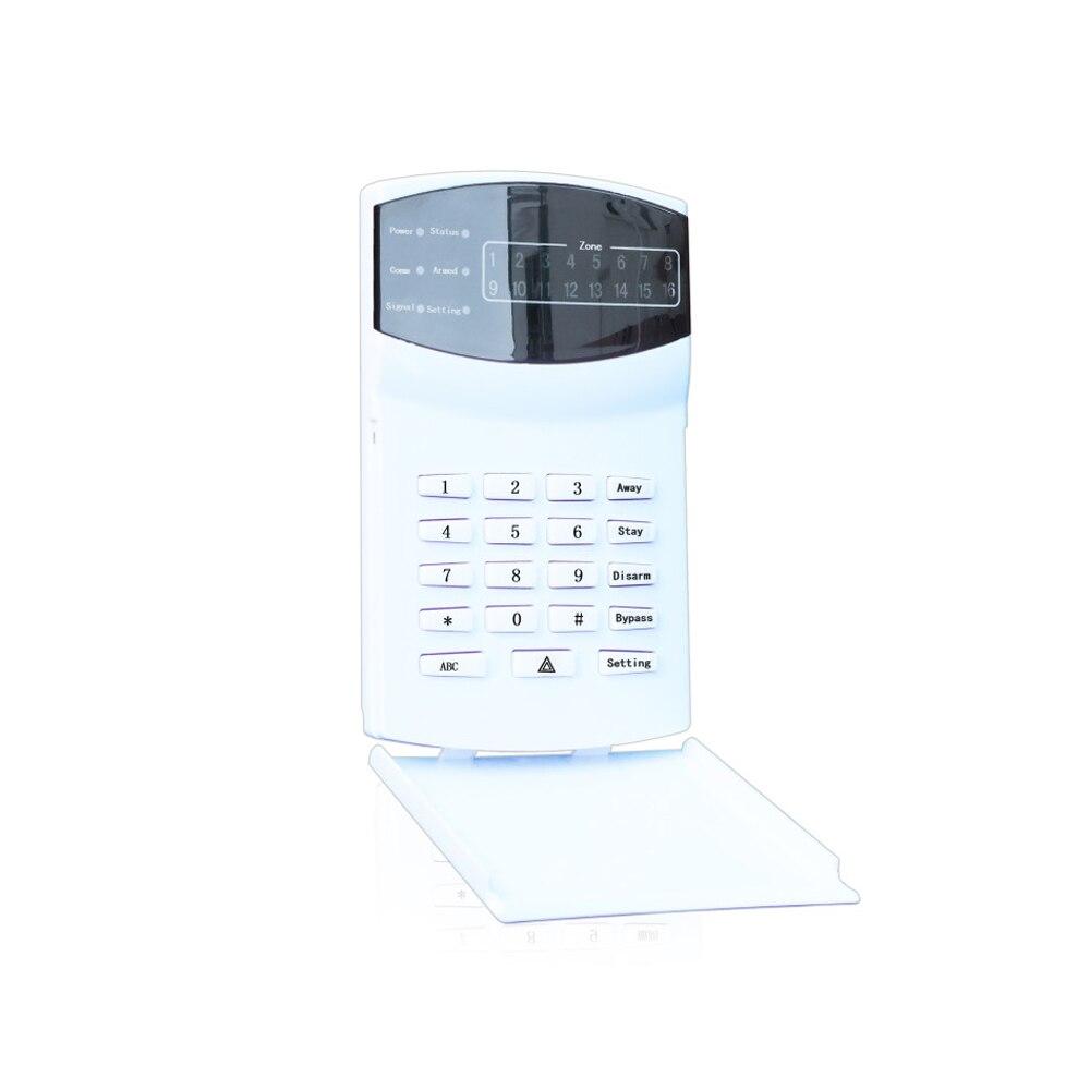 (1 комплект) железная коробка промышленная сигнализация Беспроводная 433 МГц пульт дистанционного управления ЖК Клавиатура 16 беспроводных и 16 проводных зон GSM PSTN Двойная сеть - 5
