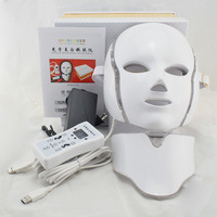 LED 7 Colors Light Microcurrent Facial Mask Machine Photon Therapy Skin Rejuvenation Facial Neck Mask Whitening
