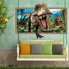 Creative 3D Dinosaurs Wall Sticker Bedroom Living Room Remov