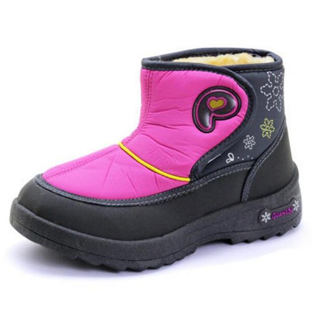 2016 Niños Del Invierno Zapatos de Los Muchachos de Arranque A Prueba de agua Los niños niños Botas Chaussure de 9-16 años del bebé Niñas niños BOTAS mantener el Calor