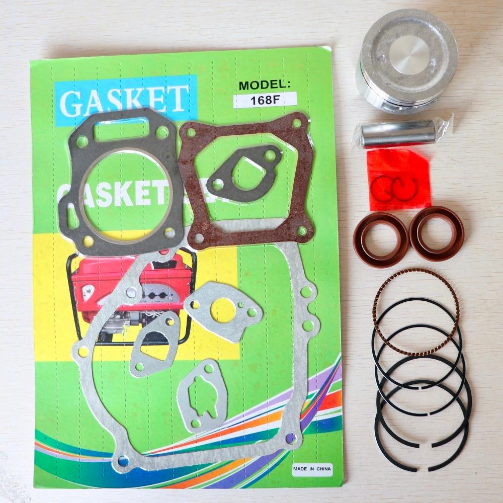 Piston Assy Kit Ring Set fit Honda GX160 GXV160 5.5HP GX200 6.5HP Rings Engine size 68MM