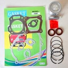 68mm Piston Rings Gasket Oil Seal Rebuild Kit For Honda GX200 168F 6.5HP 2kw 2.5kw Gasoline Generator Trimmer Engine