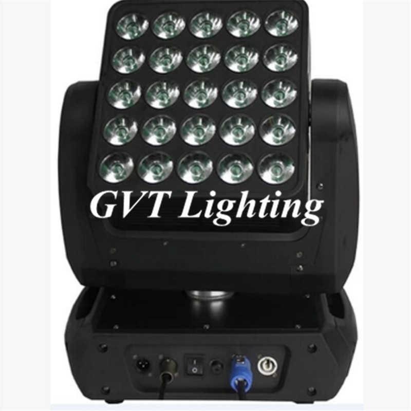 2pcs/lot 25*12w Matrix Light led moving head Led 5x5 Matrix Beam Moving Head stage lighting