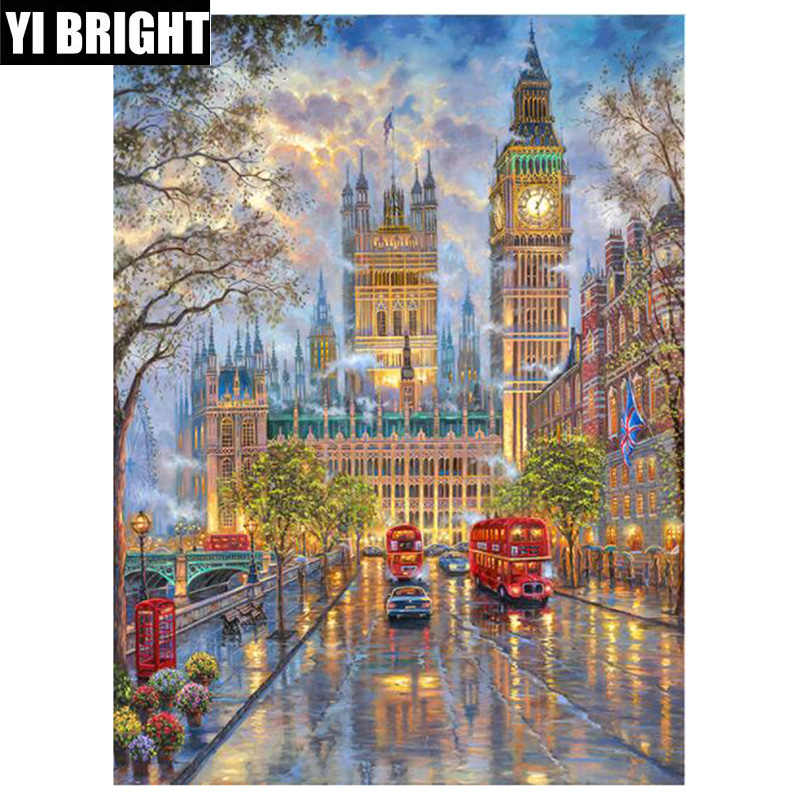 "DIY handmade Full Square/Round diamond painting""city""diamond embroidery sale stitch kit Diamond Mosaic home living XPZ"