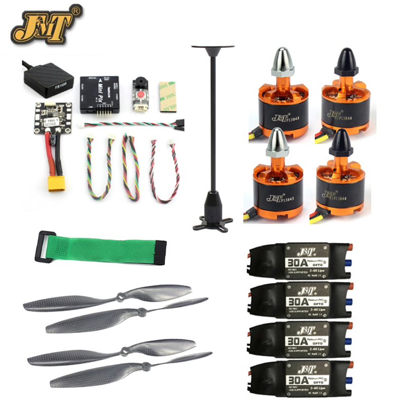 JMT DIY Kits Radiolink Mini PIX M8N GPS Flight Control 920KV Brushless Motor ESC Propeller for 6-axis/4-axis RC Helicopter