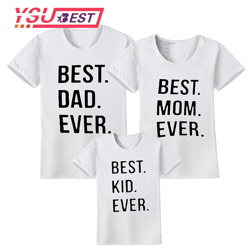New 2018 Mothers Day Family Matching Outfits Letter Father and Son Clothes Cotton Family Look T- shirt Family Matching Clothes