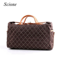 Brand New Women Travel Bags Large Capacity Lattice Travel Duffle Business Luggage Men Shoulder Bags Sac