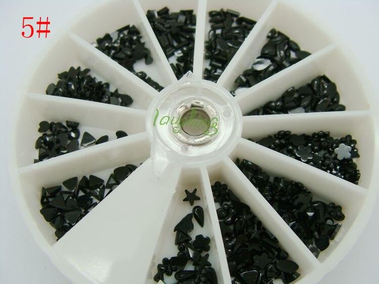 Hot Sale !1pcs/set Nail Art Rhinestones Glitter Tip Gems WheelFree ...