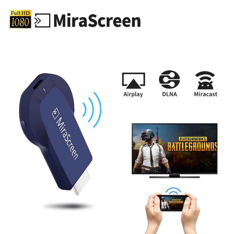 Mirascreen Mini PC Android TV Stick wireless dongle HDMI streamer Media Player Airplay DLNA chrome cast vs Ezcast anycast crome