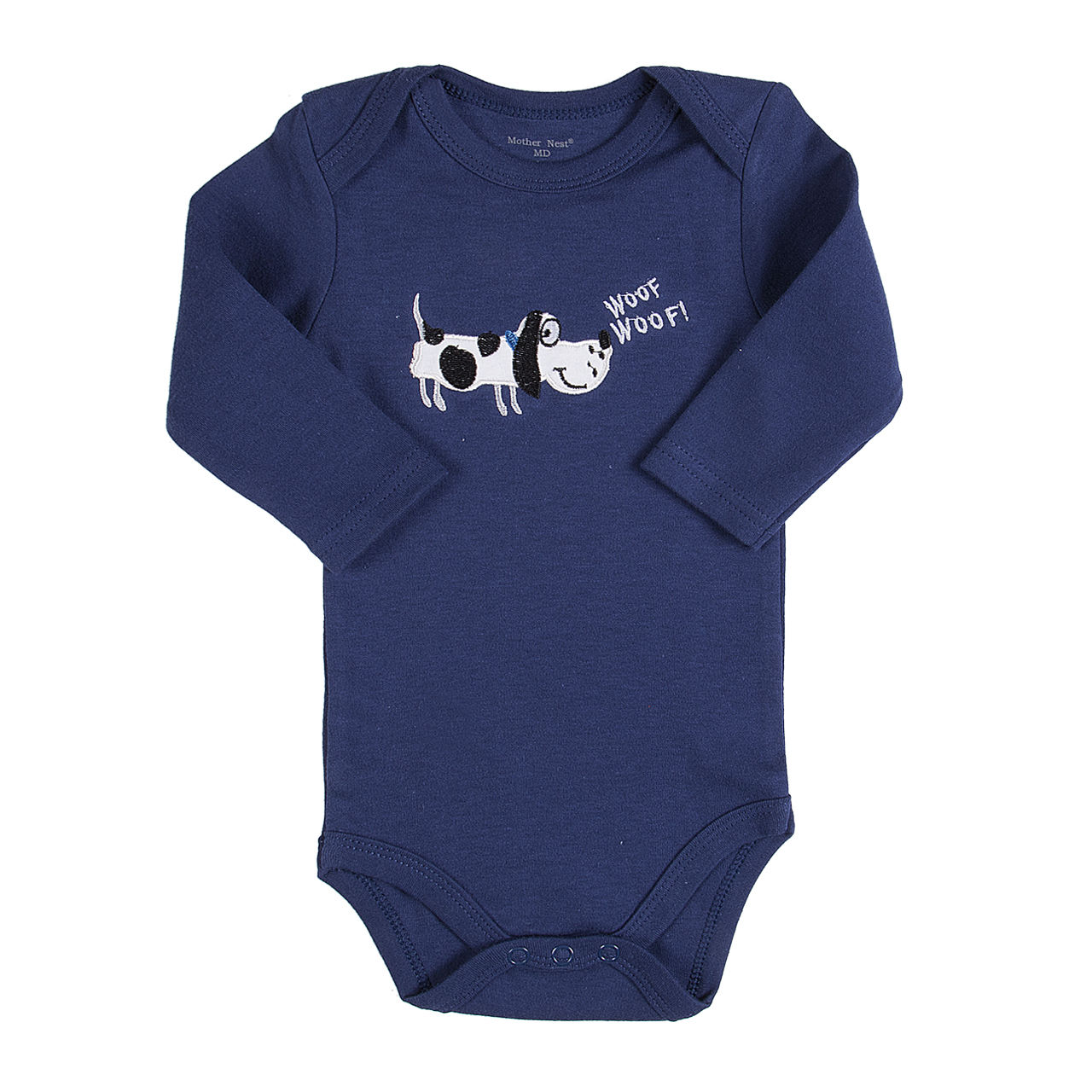 Kids Newborn Baby Boys Girls Long Sleeve Cotton Blue Dog Printed Romper Jumpsuit Clothes Outfit One Pieces Size 0-12M 2017 lovely newborn baby rompers infant bebes boys girls short sleeve printed baby clothes hooded jumpsuit costume outfit 0 18m