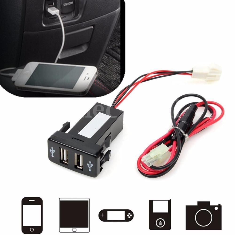 Dual 2-port USB Chargeur De Voiture Dans La Voiture Prise Adaptateur 12 V Pour Toyota VIGO Car Electronics Accessoire Adaptateurs Sockets Chargeurs