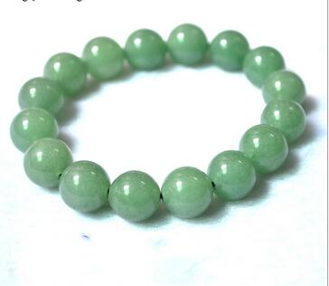 Original div style pure manual weaving shallow green, round bead bracelet Charm men and women lovers style