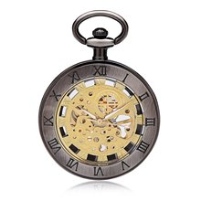 Skeleton Watches Steampunk Pocket Watch Bronze Classic Vintage Mechanical Pocket Watch
