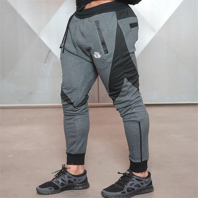 2016 Nueva Ropa de Hombre Pantalones Casual Pantalones Pitillo Pantalones Culturismo GymShark Hombres Joggers pantalones de Chándal de Algodón Elástico XXL