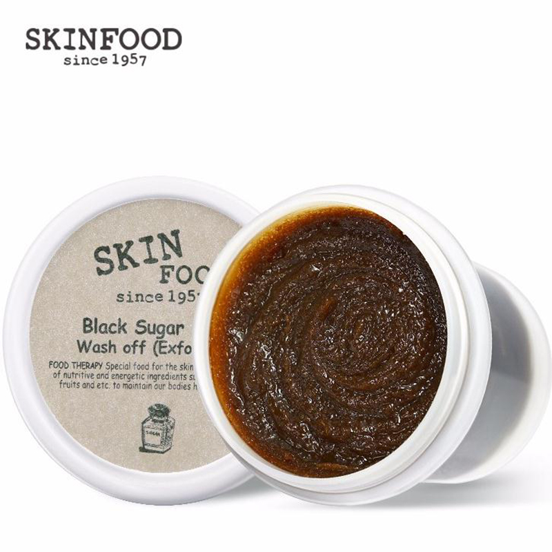 SKINFOOD Skinfood Black Sugar Mask Wash Off Scrub 100g Skin Care Face Mask Remove Blackhead Moisturizing Best Korea Cosmetics skinfood black sugar strawberry маска смываемая для лица black sugar strawberry маска смываемая для лица
