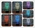 Nuevo 2017 de Star Wars Jedi Knight Visual 3D Led de La Noche Del Sueño luz Lámpara de Mesa Táctil USB Ilusión la Atmósfera Ambiente 7 Colores figura RC