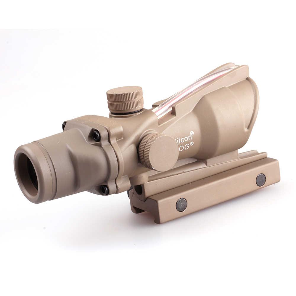 التكتيكية 4X32 نطاق الألياف الحقيقية الأحمر الأخضر مضيئة BDC الزجاج محفورا شبكاني الصيد Riflescope لبندقية Cal .223/ .308