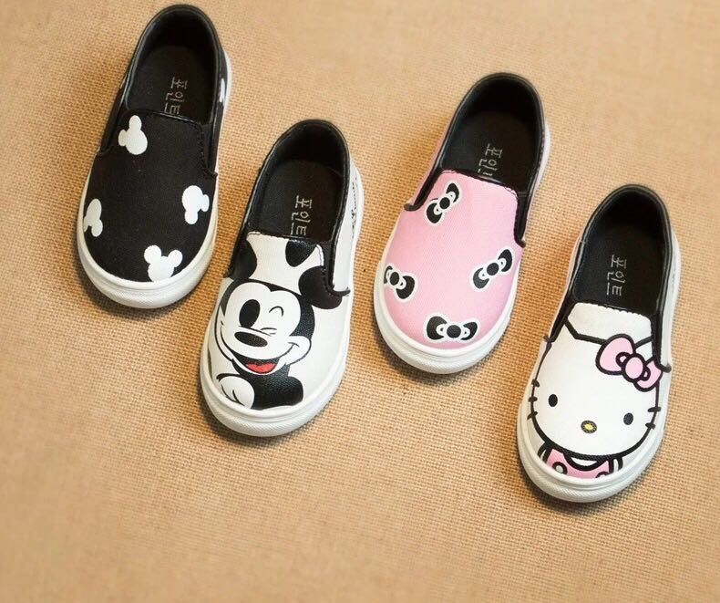 Hello Kitty Children Shoes For Girls Baby Canvas Sneakers Minnie Mouse Sneakers Kids Shoes For Boys Girls Chaussure Enfant