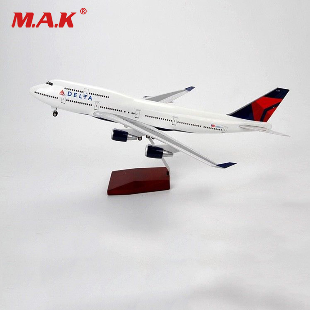 kids toys 1:150 Boeing 747 Delta Airlines aircraft model simulation Crafts F Gift/Collection Diecast Aircraft Toys for Children taihongyu 1 200 1 400 china sichuan airlines airplanes planes panda aircraft model a350 900 b 301d alloy toys collection