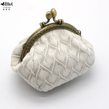 2018 New Mini Fashion Kiss Lock Women Coin Purse Wallet Wedding Bag Really Lady Girl Wallets Card Hold Key Bags free shipping(China)