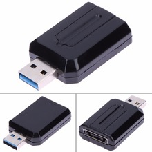 USB 3.0 to ESATA Interface Adapter External Bridge  SATA 5Gbps High Speed Transmiss Convertor Adapter for 2.5and 3.5in HDD L3FE