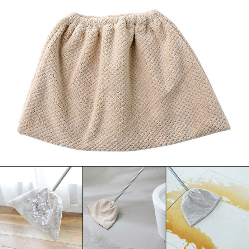 Coral Velvet Broom Cover Cloth Absorbent Mop Household Cleaning Tool Replacement Cloth UD88(China)