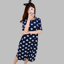 New 2016 women long nightgowns spring summer cotton nightshirts and sleepshirts ladies sleepwear nightgown night dress A97