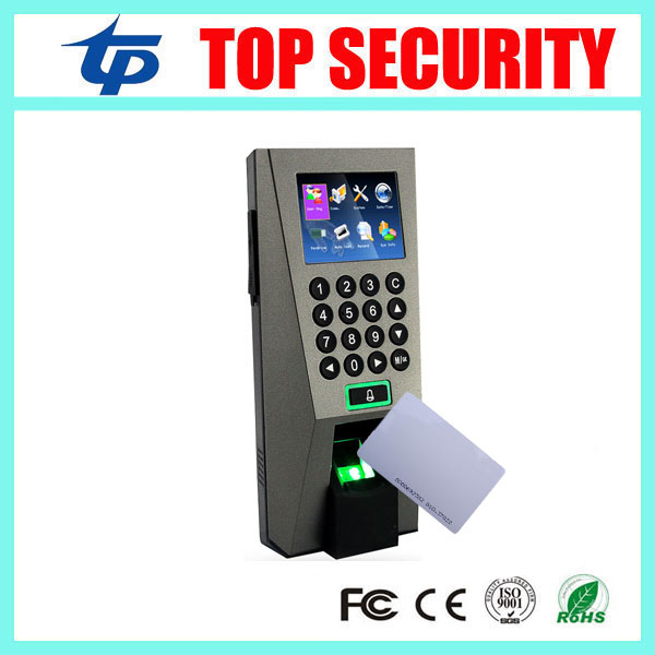 Biometric fingerprint and RFID card access control with keypad TCP/IP standalone door control time attendance F18 fingerprint rfid card reader keypad time attendance access control terminal usb tcp ip fast and reliable performance