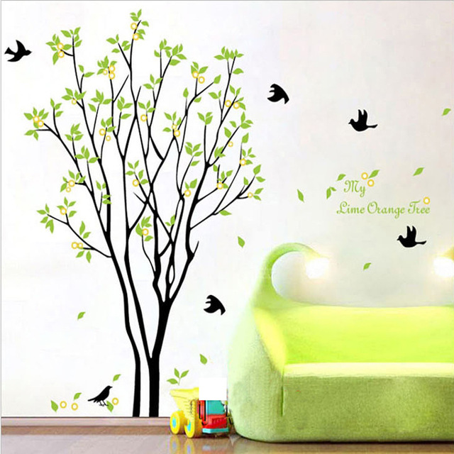 wall art mural wall decal sticker my lime orange tree green tree