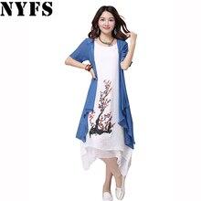 NYFS 2019 New summer dress women clothing Small fresh long d