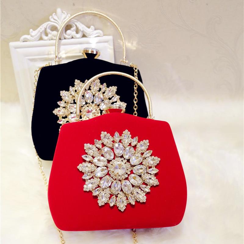 Women's Diamond-encrusted Evening Clutch Bag, Chain Bag, Shoulder Bag, Crossbody Bag glitter decor chain crossbody bag