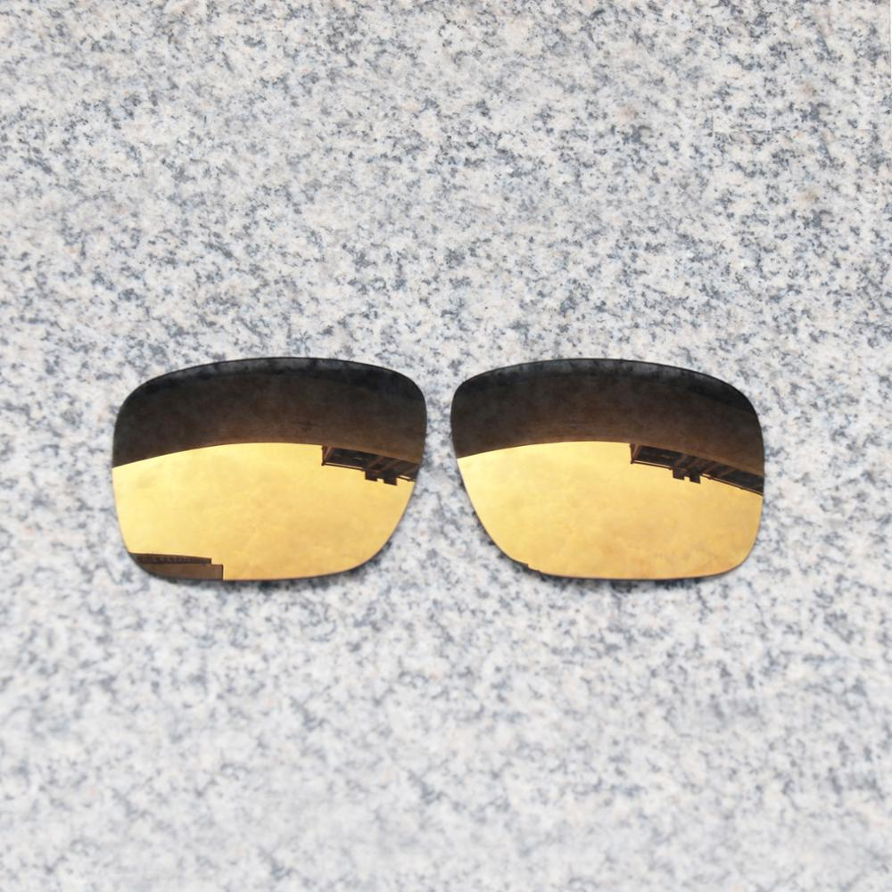 Wholesale E.O.S Polarized Enhanced Replacement Lenses for Oakley Holbrook Sunglasses - Bronze Gold Polarized Mirror
