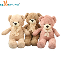 BOOKFONG Kawaii Plush Toys Teddy Bear Stuffed Animal Doll Baby Toys Big Embrace Bear Doll Lovers Christmas Gifts Birthday Gift