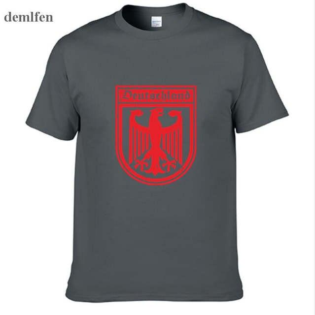 3ecaed781aef5 placeholder Brasão Da Bandeira Deutschland Alemão Alemanha Camisa Da Águia  T dos homens Nova Moda B Homem