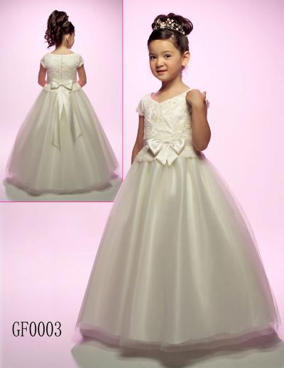 Princess   Girls   Pageant   Dresses   Cap Sleeve Organza Bow Ball Gown   Flower     Girl     Dress   for Weddings Toddler Tuxedo