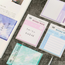 Get more info on the 4 pcs Aurora color memo pad Sakura flower sticky notes To do check list planner sticker Stationery Office School supplies F168
