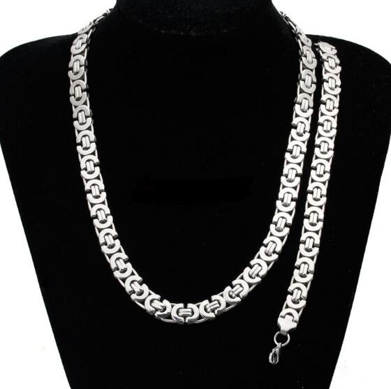 """Heavy Gift 8mm 316L Stainless Steel Silver Byzantine Chain Men/'s Necklace 23.6/"""""""