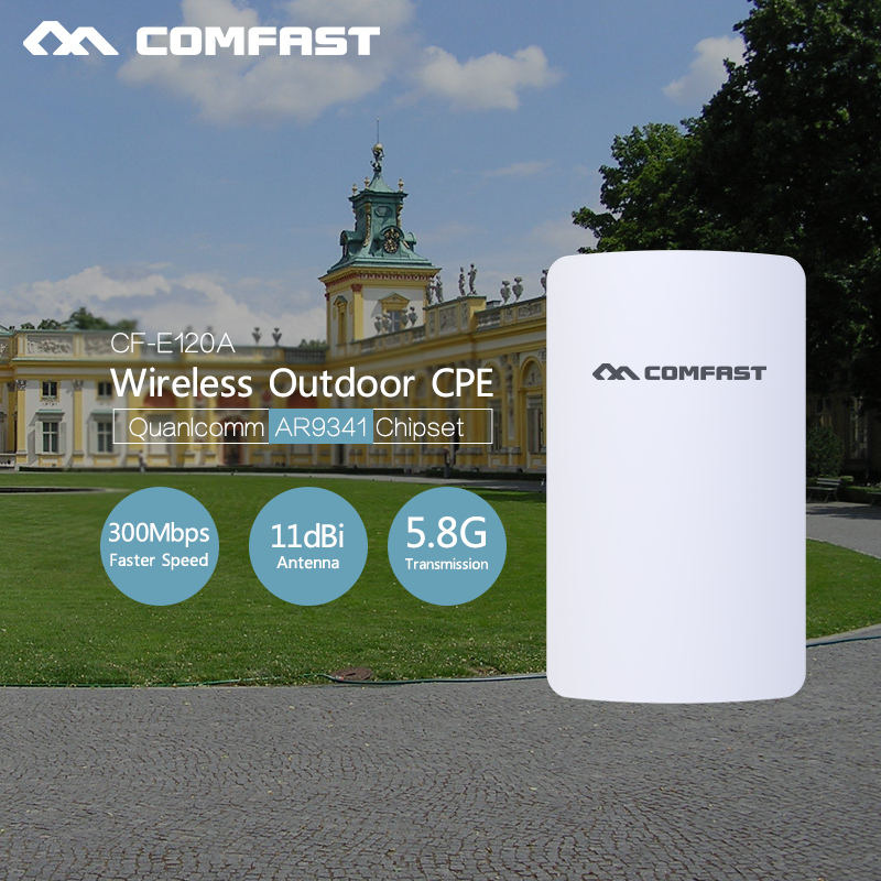 Mini 300Mbps 5.8G Wireless CPE WIFI Router Outdoor WIFI Repeater 2*11dBi Antenna PoE Long Distance Waterproof WIFI CPE booster 2 4ghz 300mbps outdoor cpe router long distance wifi router high power wifi signal booster