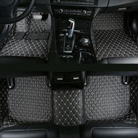 Car floor mats for BMW 7 series E65 E66 F01 F02 F04 730d 740Ld 750d,3 series E46 E90 E91 E92 E93 F30 F31 F34 leather car carpets