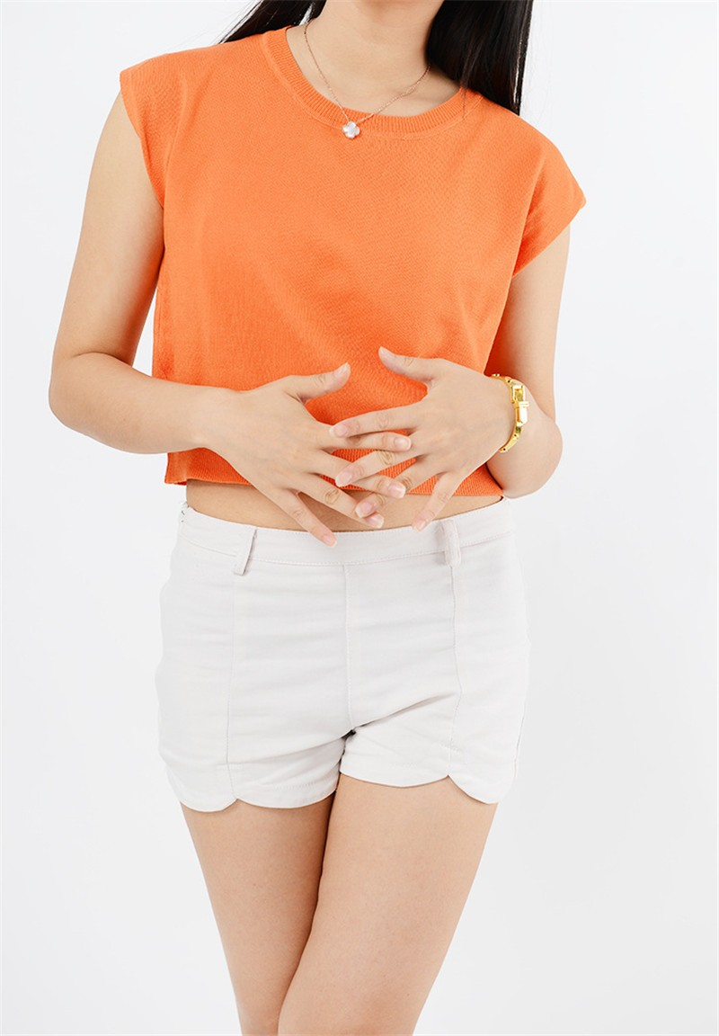 Summer 2016 Solid knitted short Pullover Sweater (30)