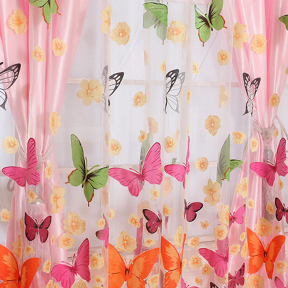 Butterfly Kitchen Curtains: Butterfly Window Curtains For Living Room Bedroom
