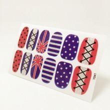 Union Jack Flash Nail Sticker Gel Polish French Manicure Patch Full Tape Waterproof Nail Decal Sticker Makeup Tools