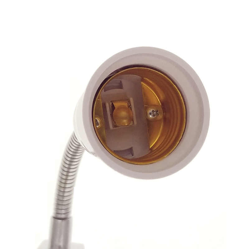E27 10-50 см светодиодный светодиодные лампы освещения удлинение Держатель гибкий удлинитель-адаптер с конвертером с выключателем белый кабель огни