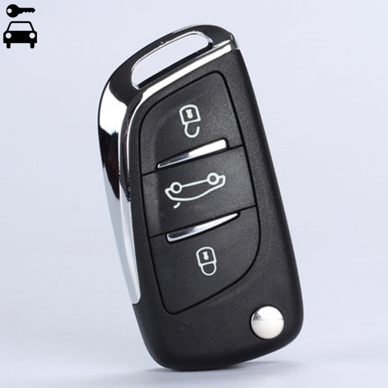 Car Modified Flip Folding Key Shell FOB 3 Buttons for Peugeot 307 308 408 107 207 307S 308 407 CE0536 Remote Key Case with Logo цены онлайн