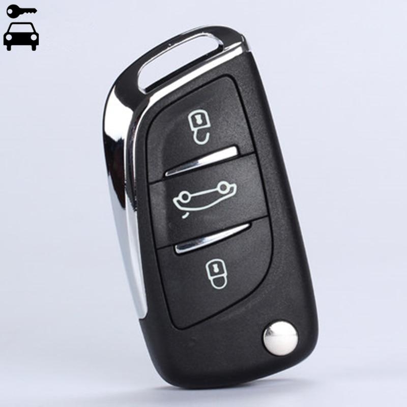 Car Modified Flip Folding Key Shell FOB 3 Buttons for Peugeot 307 308 408 107 207 307S 308 407 CE0536 Remote Key Case with Logo колодки ferodo 307 308 408